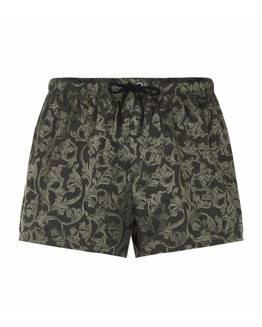 Versace - Green Barrocca Swim Shorts for Men - Lyst