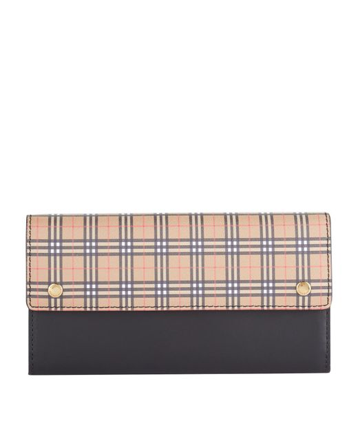 Burberry - Yellow Small Scale Check Continental Wallet - Lyst