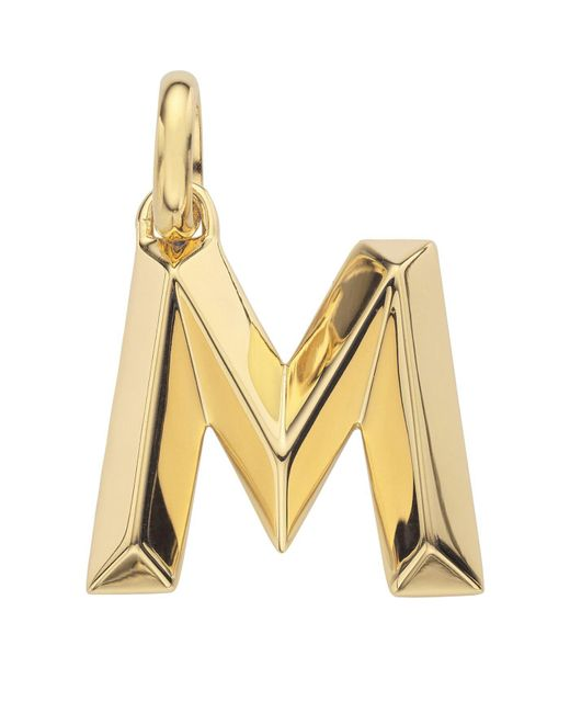 Monica Vinader - Metallic Gold Capital M Pendant - Lyst
