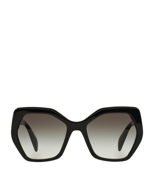 Prada - Black Oversized Sunglasses - Lyst
