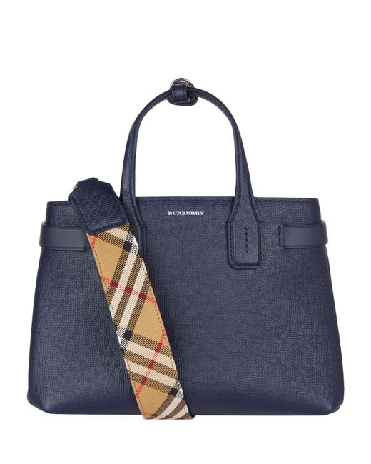 Burberry - Blue Small Banner Tote Bag - Lyst