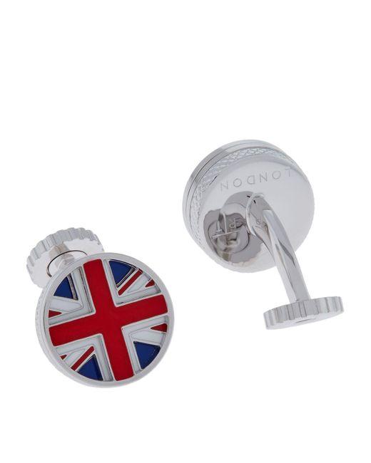 Tateossian | Metallic Rotating Union Jack Cufflinks for Men | Lyst