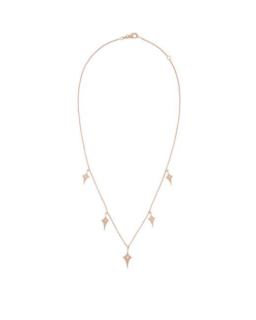 Diane Kordas - Metallic Rose Gold Shield Chain Necklace - Lyst