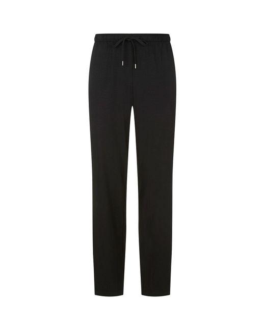 Derek Rose Black Basel Lounge Trousers for men