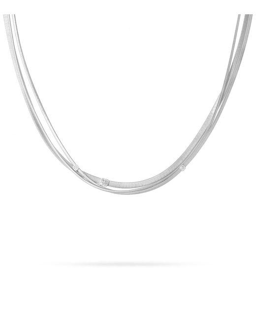 Marco Bicego   White Masai Triple Strand Diamond Necklace   Lyst