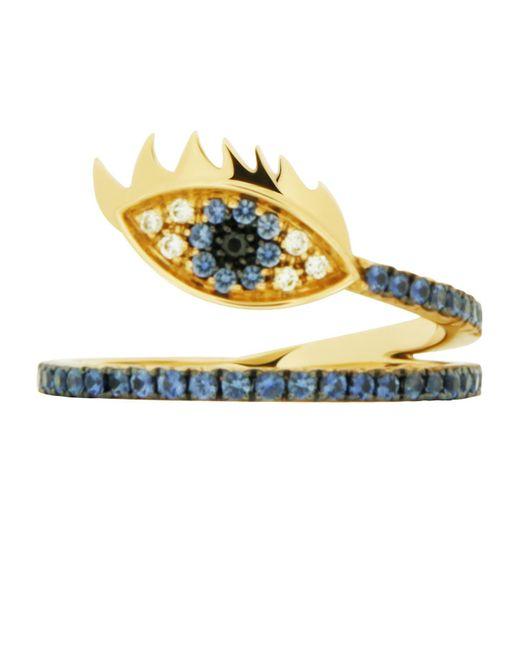 Delfina Delettrez   Blue Marry Me Eye Yellow Gold Ring   Lyst