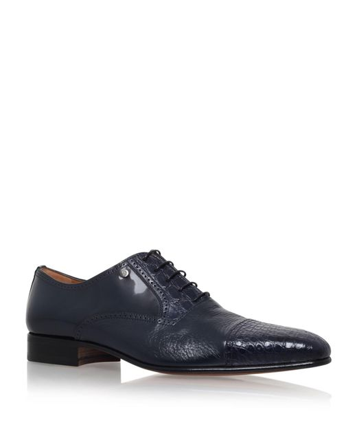 Stemar | Blue Toe Cap Croc And Leather Oxford for Men | Lyst