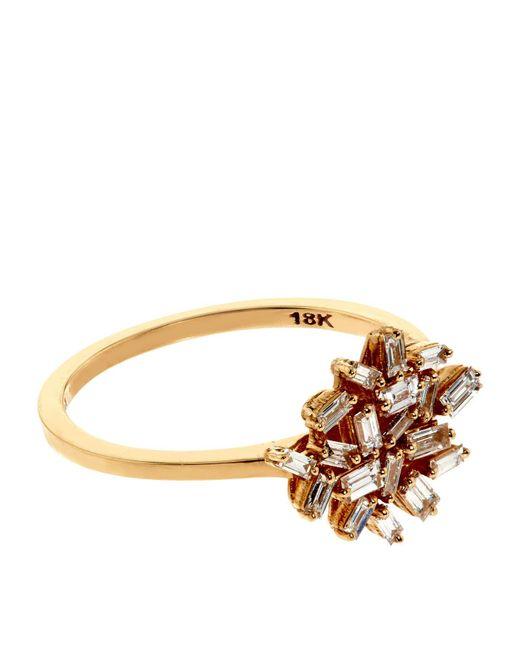 Suzanne Kalan | Baguette White Diamond Firework Ring | Lyst