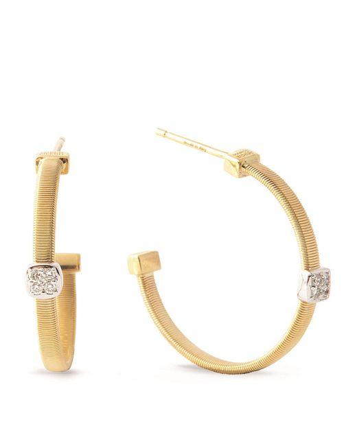 Marco Bicego   White Masai Size 2 Yellow Gold Diamond Earrings   Lyst
