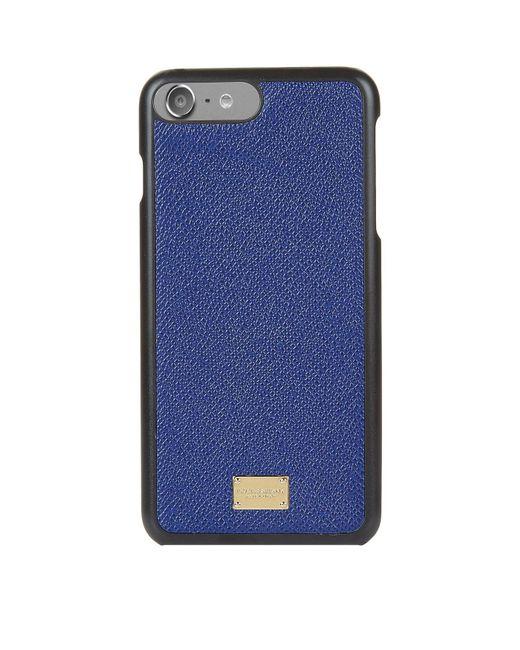Dolce & Gabbana | Blue Grain Leather Iphone 7 Plus Case for Men | Lyst