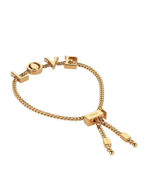 Chloé | Metallic Love Adjustable Bracelet | Lyst