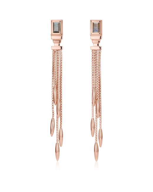 Monica Vinader | Metallic Baja Deco Labradorite Cocktail Earrings | Lyst
