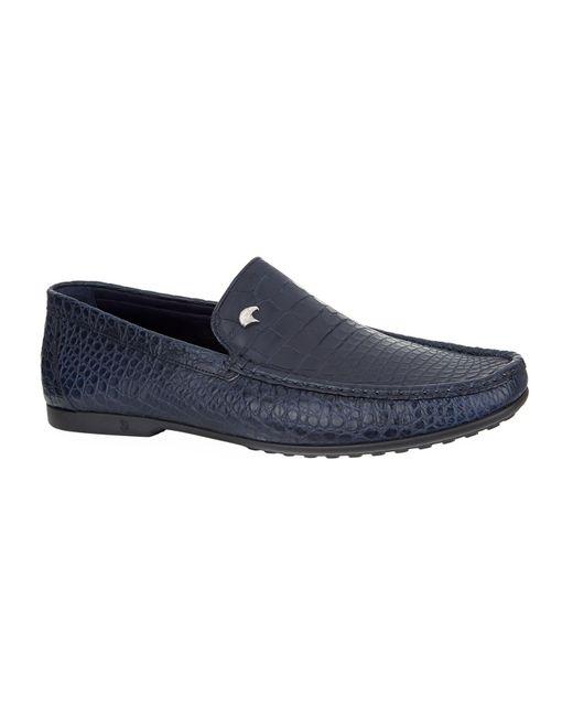 Stefano Ricci   Blue Crocodile Skin Loafers for Men   Lyst