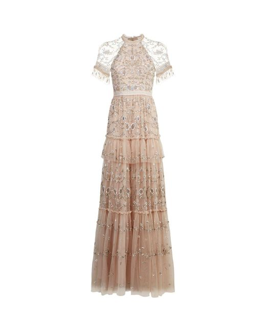 Needle & Thread | Pink Constellation Lace Gown | Lyst