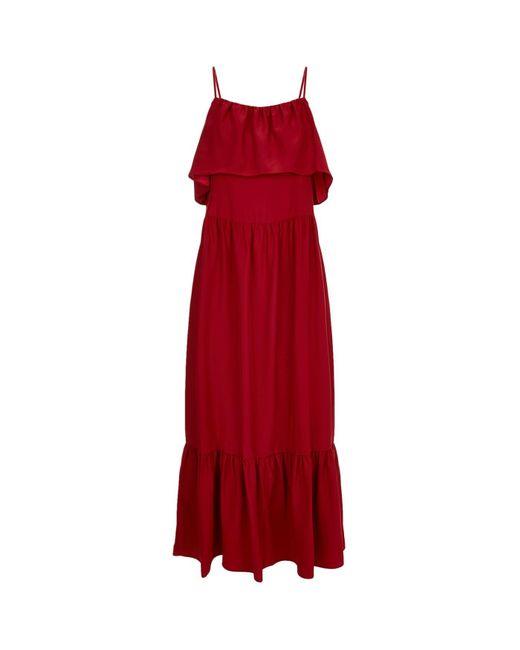 Robert Rodriguez | White Ruffle Trim Midi Dress | Lyst