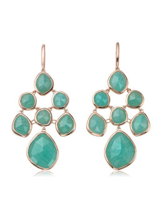 Monica Vinader | Metallic Siren Amazonite Chandelier Earrings | Lyst