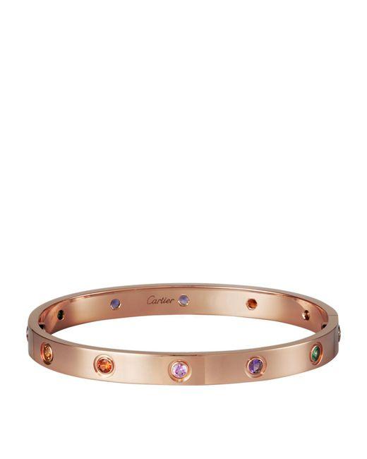 Cartier - Metallic Pink Gold Sapphire And Garnet And Amethyst Love Bracelet - Lyst