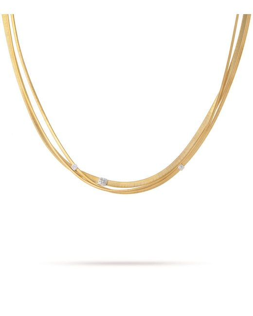 Marco Bicego - White Masai Triple Strand Diamond Necklace - Lyst