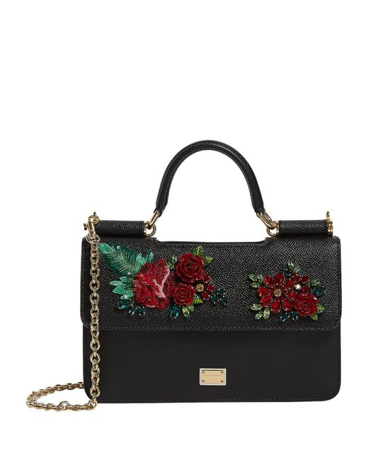 80ea9779fc46 Lyst - Dolce   Gabbana Mini Leather Sicily Bag in Black