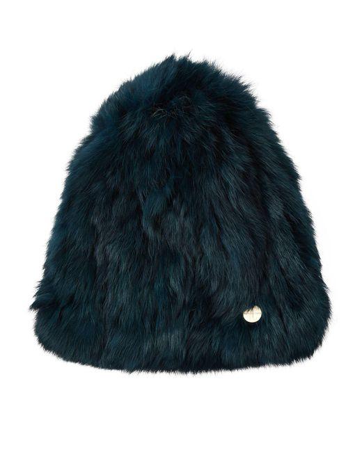 Yves Salomon - Green Rabbit Fur Hat - Lyst