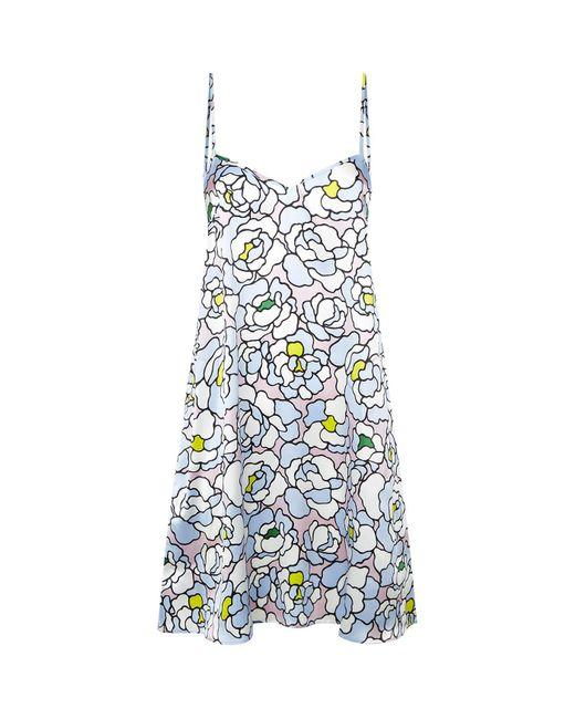 Olivia Von Halle | Blue Mila Dione Silk Nightdress | Lyst