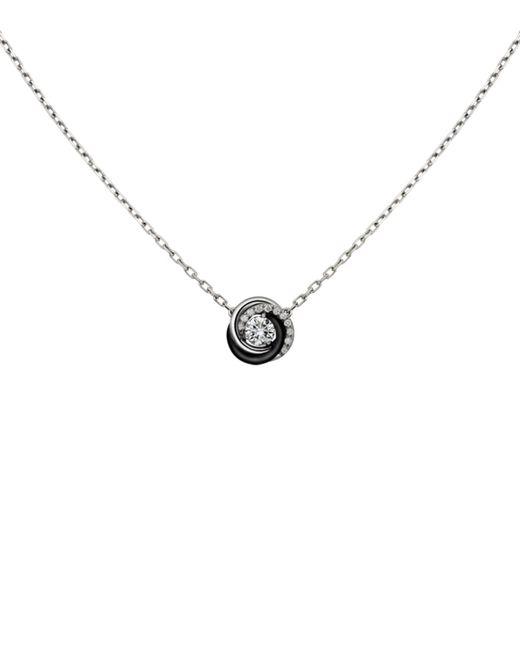 Cartier - Metallic White Gold And Ceramic Trinity De Diamond Pendant Necklace - Lyst