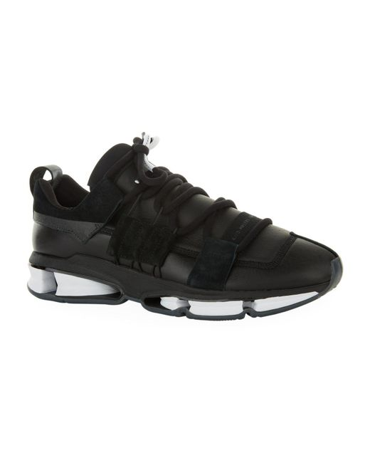 Adidas Originals - Black Twinstrike Stretch Leather Sneakers for Men - Lyst