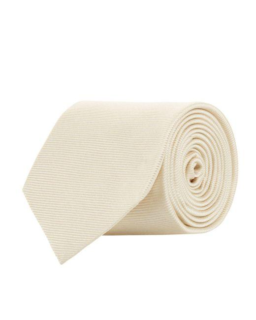 Turnbull & Asser - White Woven Twill Tie for Men - Lyst