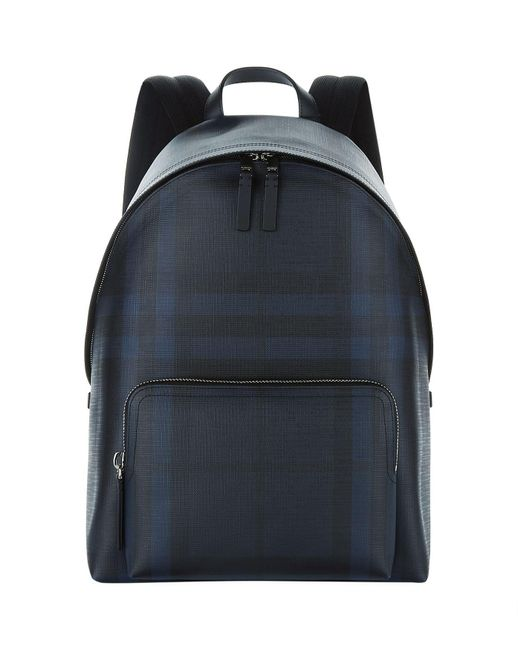 Burberry - Blue Smoked Check Rucksack for Men - Lyst