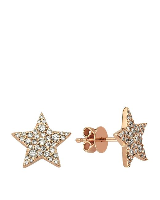 Bee Goddess - White Star Light Diamond Earrings - Lyst