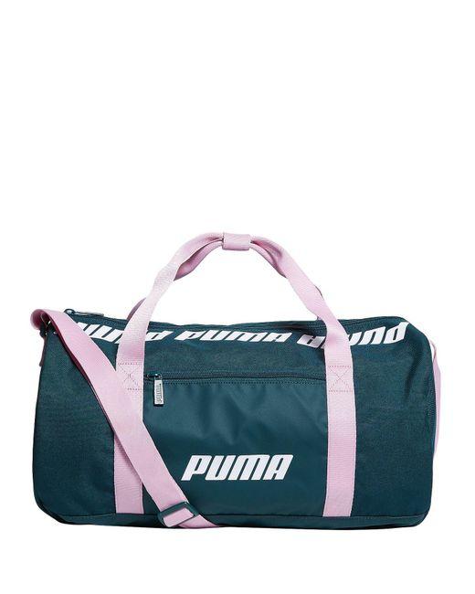 6c8a3ee1cf PUMA - Green Logo Trim Holdall - Lyst