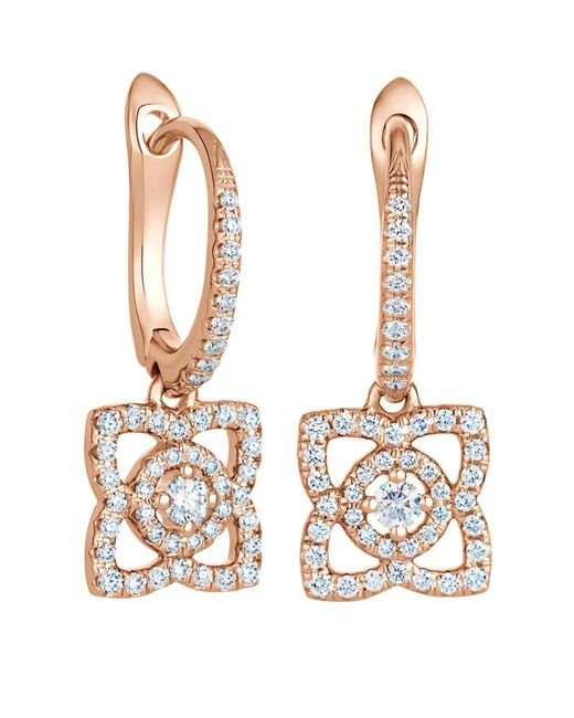 De Beers - Metallic Rose Gold Enchanted Lotus Sleeper Earrings - Lyst