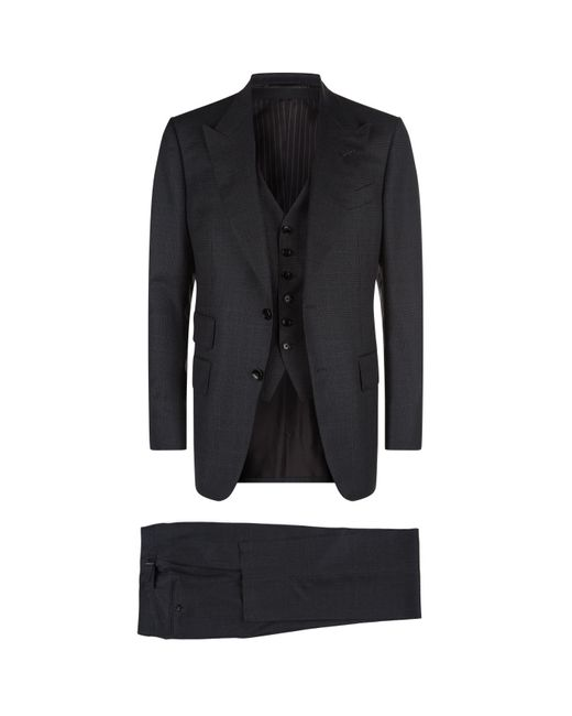 Tom Ford - Gray Windsor Three Piece Suit for Men - Lyst
