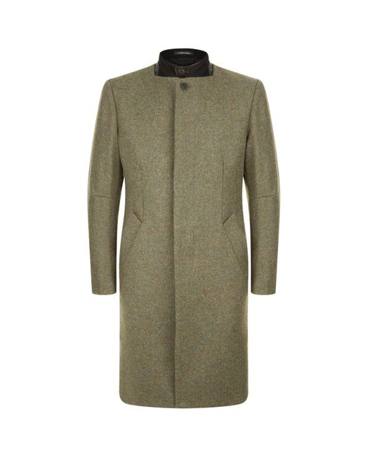 Rag & Bone | Green Stand Collar Coat | Lyst