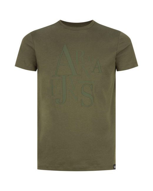 Armani Jeans   Green Abstract Logo T-shirt for Men   Lyst