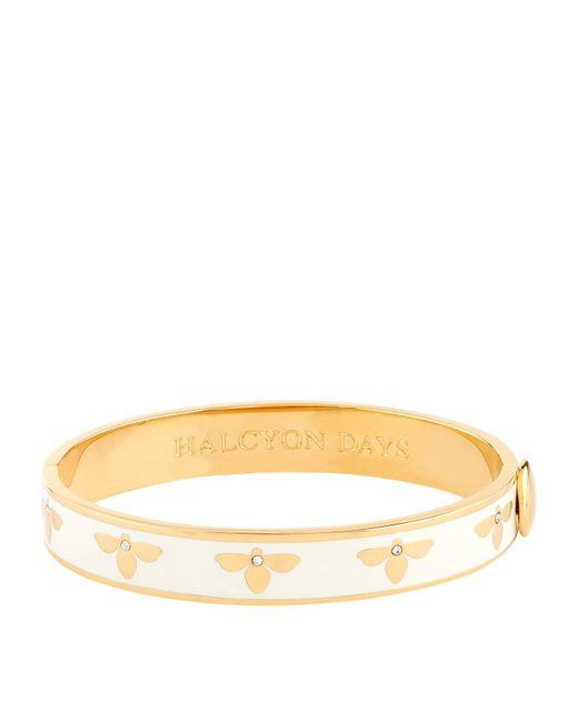 Halcyon Days - White Bee Bangle - Lyst