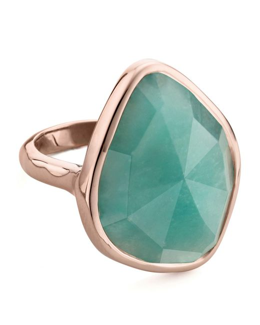 Monica Vinader - Metallic Siren Nugget Amazonite Cocktail Ring - Lyst