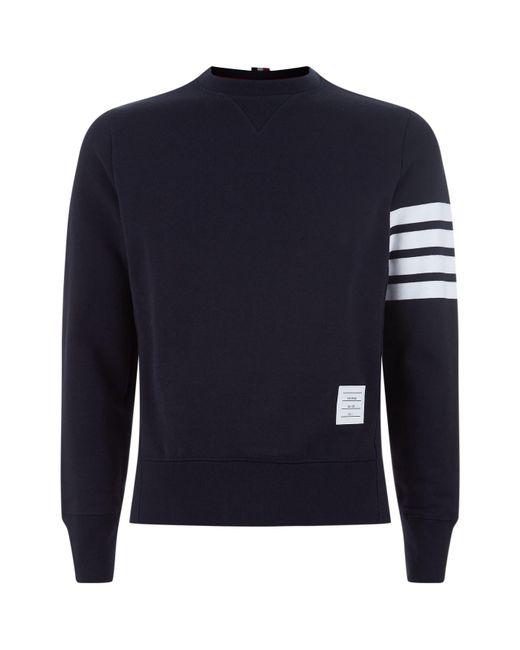 Thom Browne - Blue Engineered Striped Sweatshirt for Men - Lyst