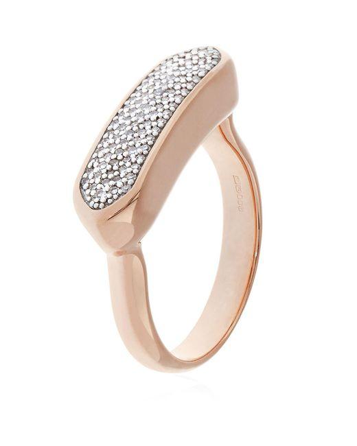 Monica Vinader - Pink Baja Diamond Ring - Lyst