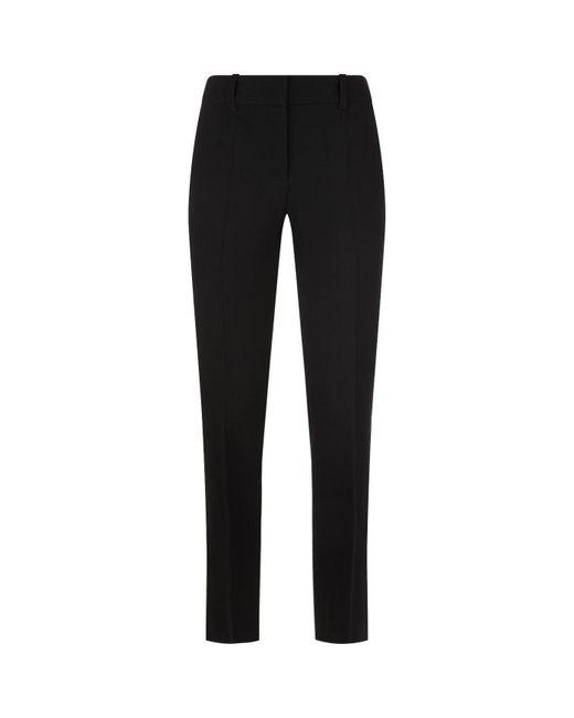 Armani | Black Textured Wool Trousers | Lyst