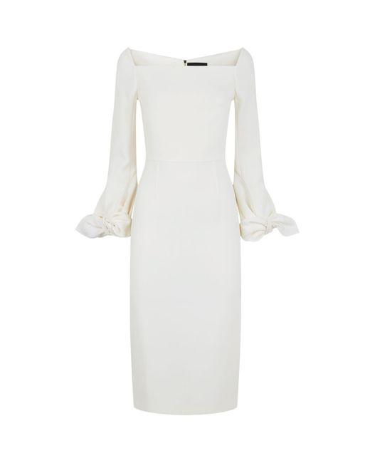 Roland Mouret - White Mapplewell Bow Sleeve Dress - Lyst