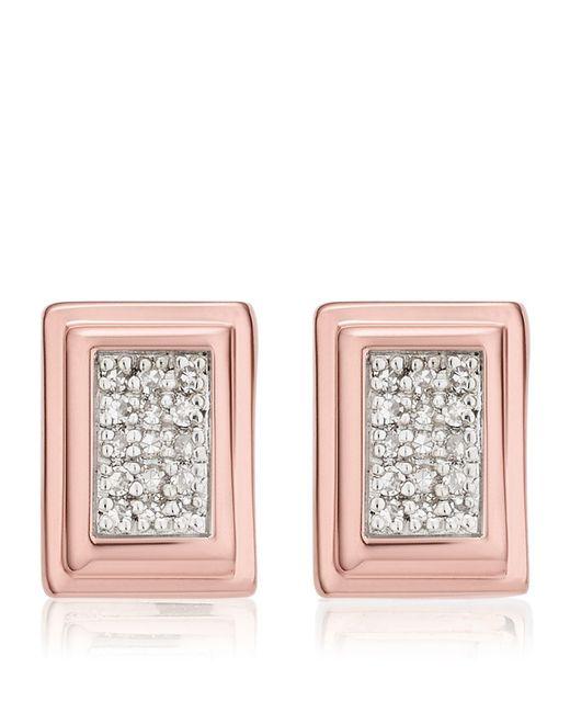Monica Vinader | Metallic Baja Deco Diamond Stud Earrings | Lyst