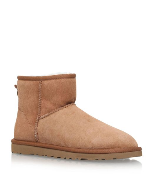 Ugg - Brown Classic Ii Mini Suede Boots - Lyst