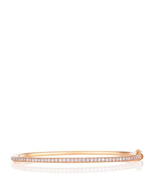 De Beers - Metallic Rose Gold And Micropav Diamond Bangle - Lyst