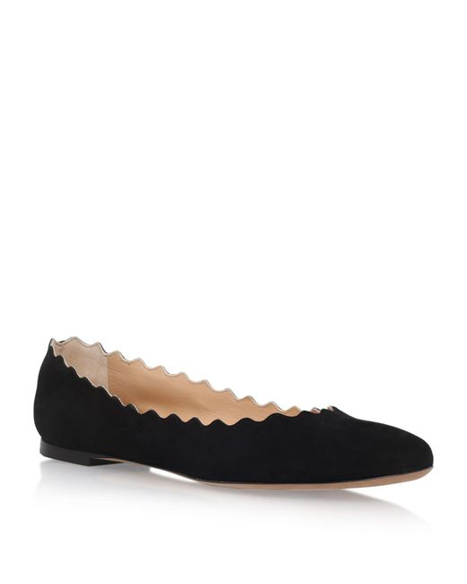 Chloé - Black Lauren Suede Ballerinas - Lyst