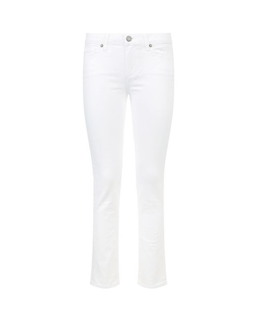 PAIGE | White Skyline Ankle Skinny Jeans | Lyst