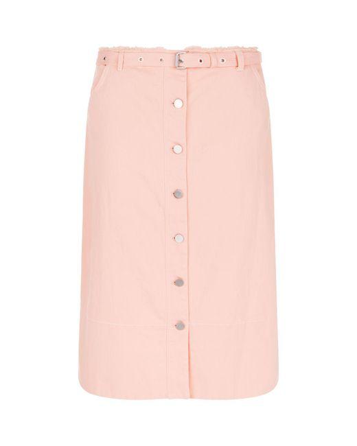 Elizabeth and James - Pink Merritt Denim Midi Skirt - Lyst