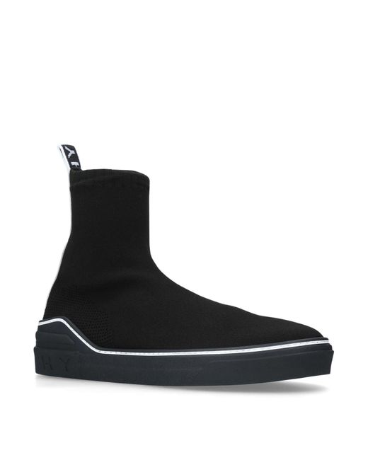 Givenchy - Black Mesh Sock 4g Boots for Men - Lyst