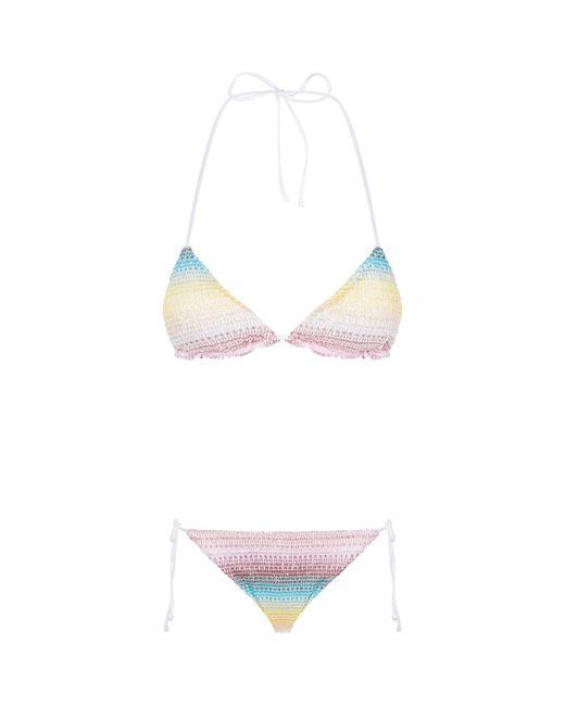 Missoni - Multicolor Rainbow Stripe Bikini - Lyst
