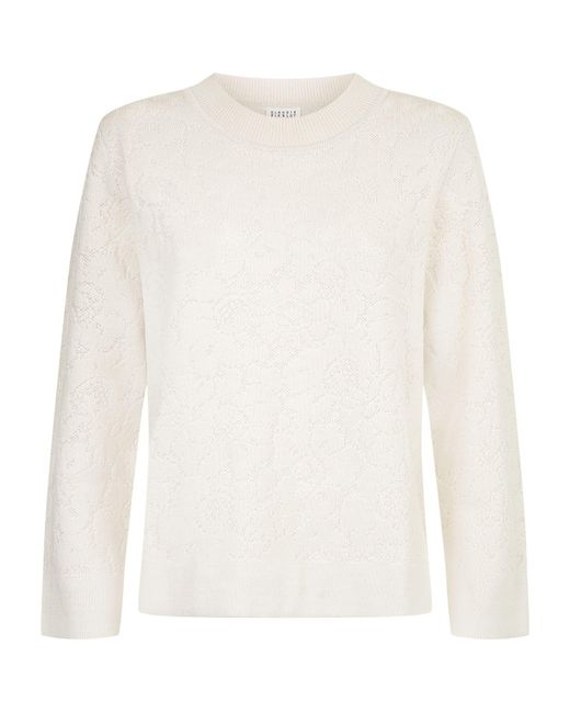 Claudie Pierlot | Natural Floral Sweater | Lyst